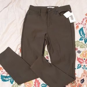 JustFab olive stretch jeans